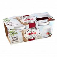 Rians fromage frais en faisselle au lait de brebis 2x100g