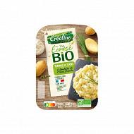 Créaline écrasé de pommes de terre ciboulette crème fraîche bio 2x180g