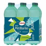 Cora eau de source gazeuse Julie 6 x 1,25l