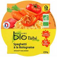 Nature bio assiette 12 mois spaguetti bolognaise 230g
