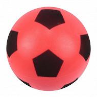 Ballon football mousse rouge T4