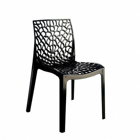 "Grandsoleil chaise ""gruvyer"" polypropylène coloris anthracite"