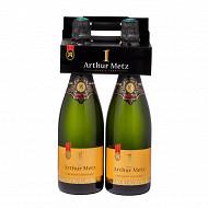 1er d'Arthur pack brut aop crémant d'Alsace blanc 2x75cl 12.5%vol