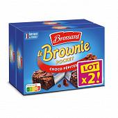 Brossard minis brownie chocolat pépites Lot 2 x8