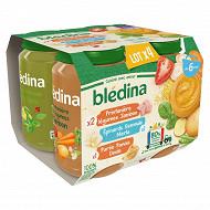 Bledina pots légume jambon / semoule merlu / purée panais dinde 4x200g