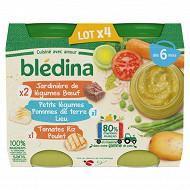 Blédina pots légumes / féculants / viande / poisson 4x200g