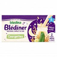 Blédina Blediner lait aux legumes cougettes soupes dès 6 mois 2X250ML
