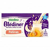 Blédina blédîner lait et potiron sans gluten dès 4/6 mois 2 x 25cl