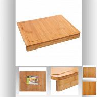 Planche à découper avec rebord en bois