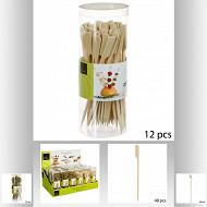 Lot de 48 piques bambou