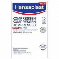 Hansaplast 10 compresses 10x10cm