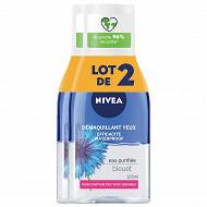 Nivea visage démaquillant yeux waterproof lotx2 125 ml