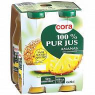 Cora pur jus d'ananas bocaux 4 x 20cl