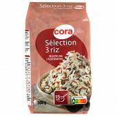 Cora mélange sélection de 3 riz 500g