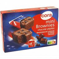 Cora mini brownies chocolat pépites x8 240g