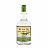 JM rhum blanc agricole AOC Martinique 1L 50%vol