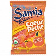 Samia bonbons sachet gélifiés coeur de peche halal 200 g