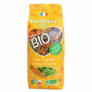 Valfleuri pâtes animaux carottes petits pois épinards bio 250g