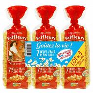 Valfleuri pates d'Alsace Coquillettes lot 3x250g