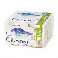 Climont yaourt bio nature au lait entier 4x125g