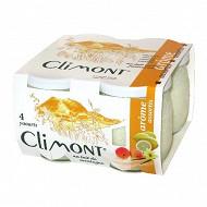 Climont yaourt aromatisé panaché 4x125g