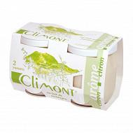 Climont yaourt arômatisé citron 2x125g
