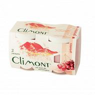Climont yaourt aux fruits griotte 2x125g