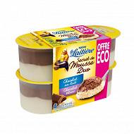 Secret de mousse duo chocolat au lait chocolat blanc 4x59g offre éco