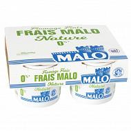 Malo fromage frais 0% 4x100 g