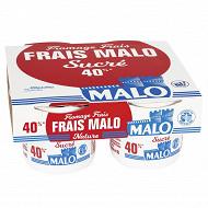 Malo fromage frais sucré 6.5% MG 4x100g