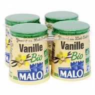 Malo yaourt bio à la vanille 4 x 125g