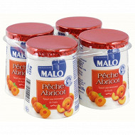 Malo yaourt aux fruits pêche abricot 4 x 125g