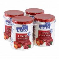 Malo yaourt aux fruits fraise framboise 4 x 125g