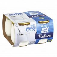 Malo yaourt nature au lait entier 4 x 125g