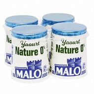 Malo yaourt nature 0% 4 x 125g
