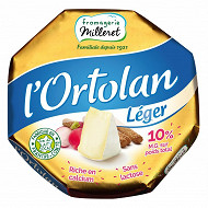 Fromagerie Milleret L'ortolan léger 10%mg  250g