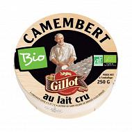 Gillot camembert bio au lait cru 250 g