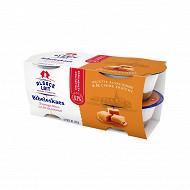 Alsace Lait fromage blanc bibeleskaes sur lit de caramel 4x125g