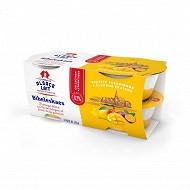 Alsace Lait fromage blanc 6.2%mg bibeleskaes mangue passion 4x125g