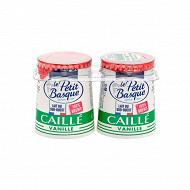 Le Petit Basque lait brebis emprésuré sucré à la vanille 2x125g