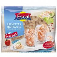 Escal crevettes tropicales décortiquées cuites 80/120 200g