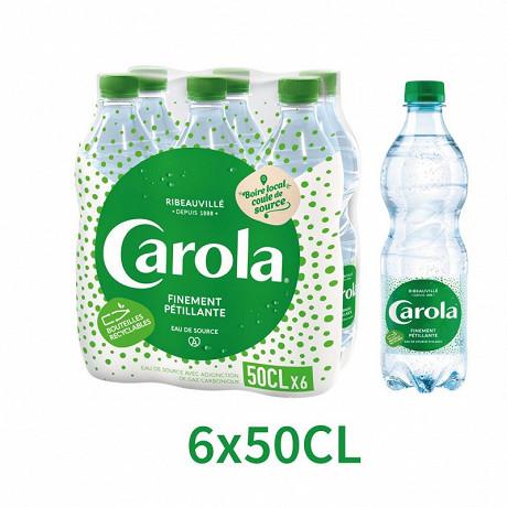 Carola verte eau finement pétillante bouteille pet 6 x 50cl