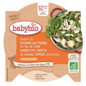 Babybio petit plat légumes dinde dès 12 mois 230g