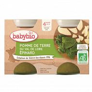 Babybio pot pomme de terre épinard sans gluten dès 4 mois 2x130g
