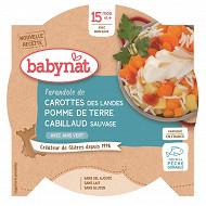 Babynat assiette légumes cabillaud sauvage sans gluten dès 15 mois 260g
