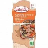 Babybio bol moussaka agneau sans gluten dès 8 mois  400G