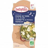 Babybio bols bonne nuit écrasé pdt courgette sans gluten 2x200g 8 mois