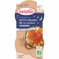 Babybio bonne nuit légumes riz sans gluten dès 12 mois 2x200g