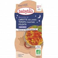 Babybio bol bnuit carotte tomate polenta sans gluten, sans lait, sans sel ajouté 12 mois 2x200g