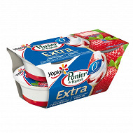 Yoplait Extra 0% spécialité laitière sur lit de fraise 4x120g
